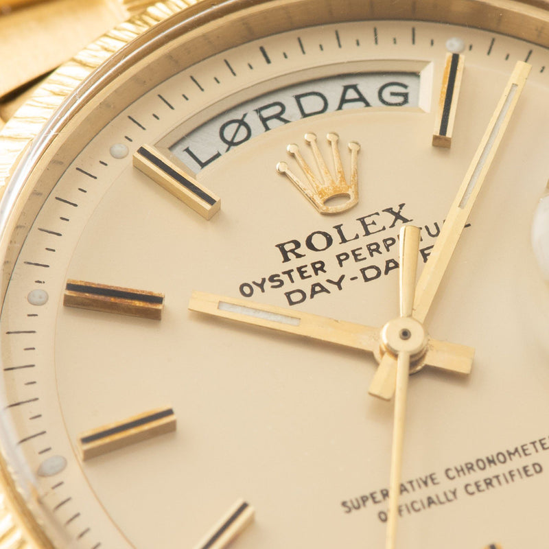 Rolex Day-Date Champagne Dial Yellow Gold 1807