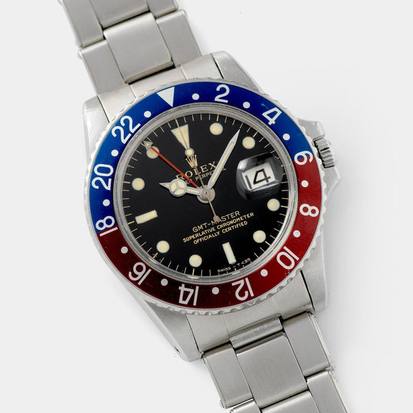 Rolex 1675 Gilt Dial GMT Master Small Hand 40mm steel case