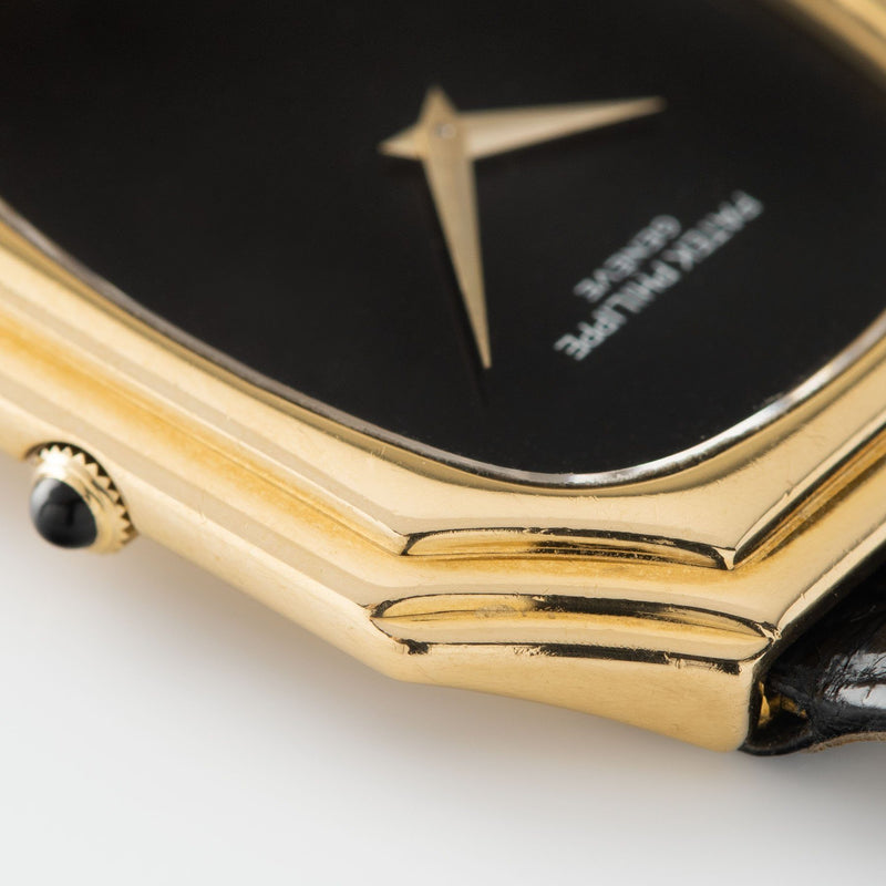 Patek Philippe Gondolo Onyx Dial Ref 3729 with yellow gold stepped case