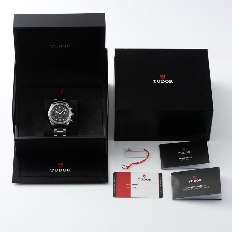 Tudor Black Bay Chronograph Steel Full Set with Boxes, guarantee, booklets and hangtag