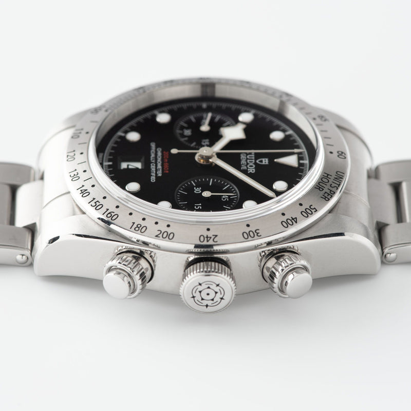 Tudor Black Bay Chronograph Steel Full Set with Cool Mk0-style pushers