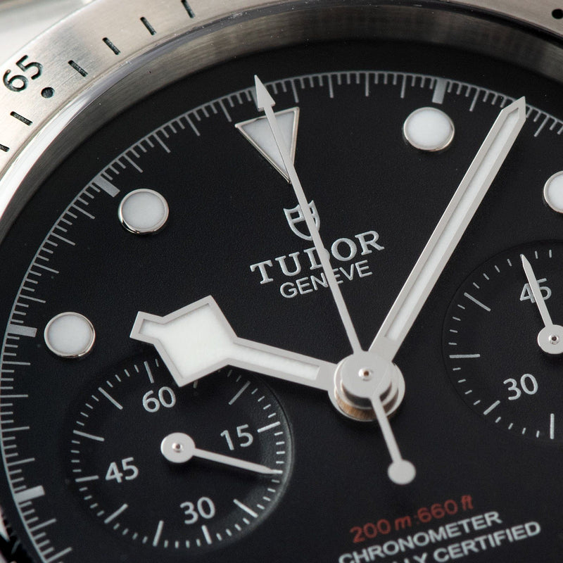Tudor Black Bay Chronograph Steel Full Set with snowflake hands