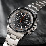 Tudor Oysterdate Chronograph Monte Carlo Big Block 94200 with black tachymeter bezel