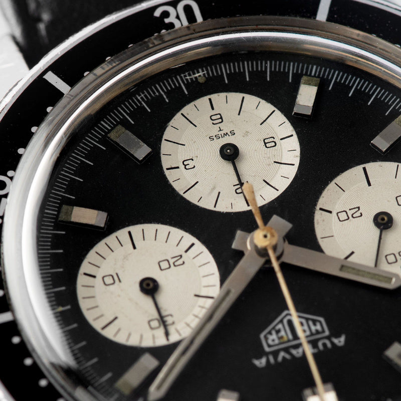 Heuer Autavia 2446 Reverse Panda three register Dial