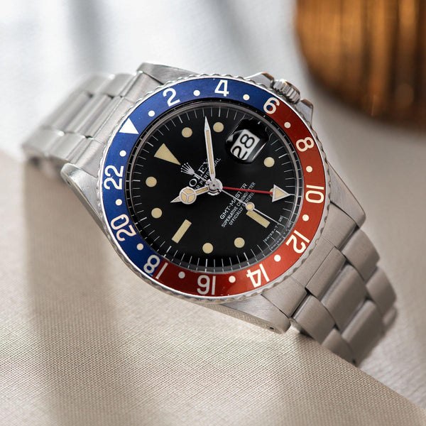 Rolex 1675 Mk3 Radial Dial GMT Master Crisp red-back 'Pepsi' inlay