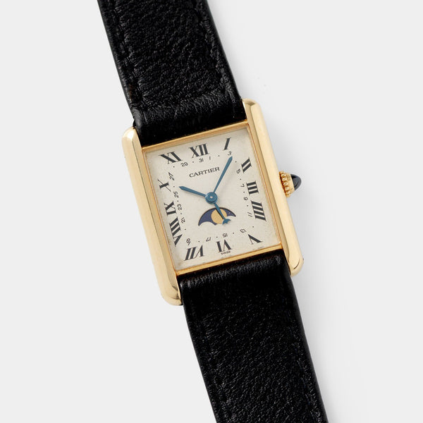 Cartier Tank with Moon Phase 18kt Yellow Gold