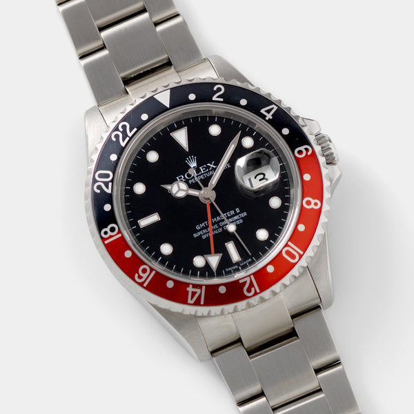 Rolex GMT-Master 2 16710  Rectangular dial Box and Papers 40mm steel case