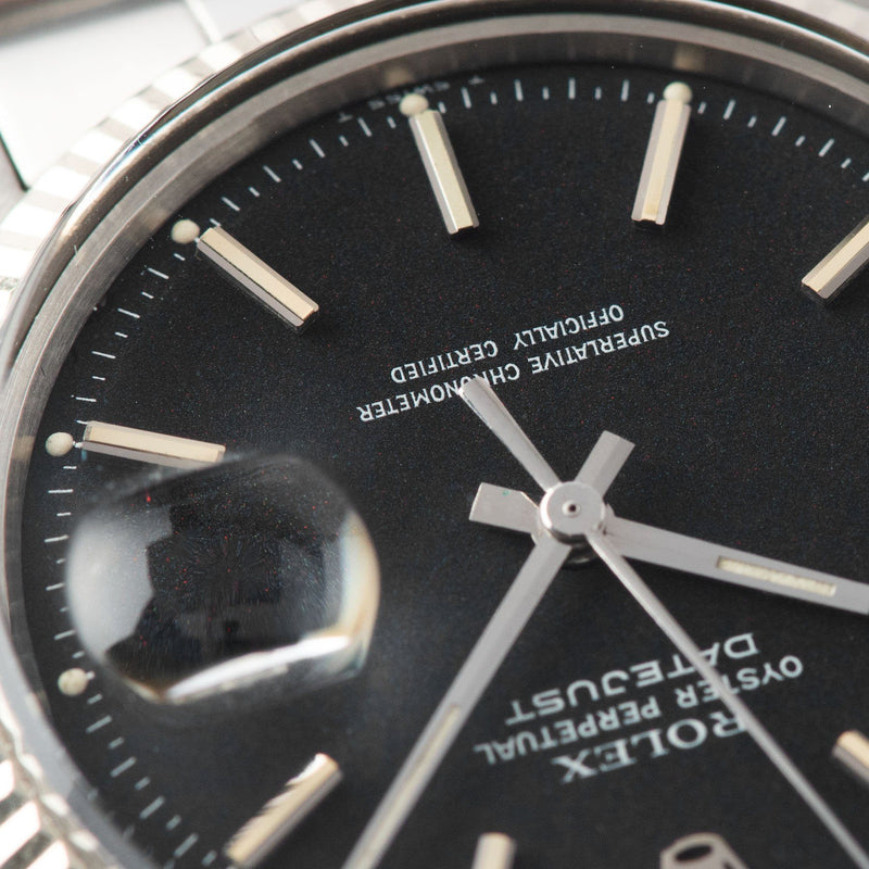 Rolex Datejust Reference Black Marble Dial 1601