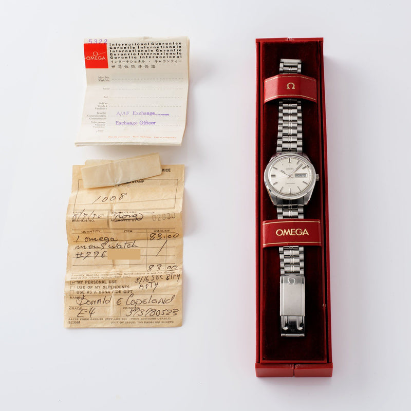Omega Seamaster Dress Watch Ref 166 032 with Box and papers with military provenance