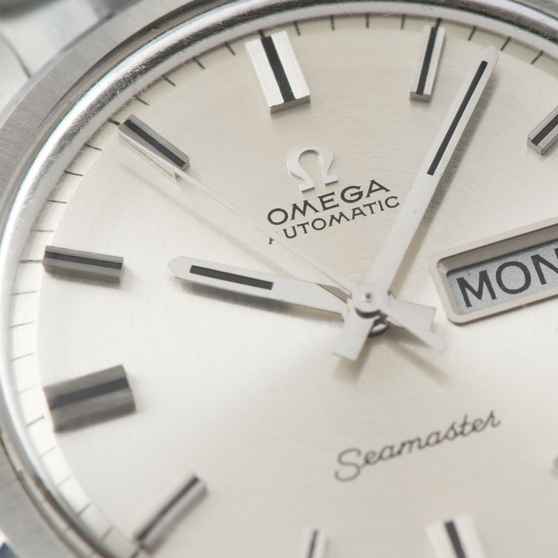 Omega Seamaster Dress Watch Ref 166 032 Silver sunburst dial