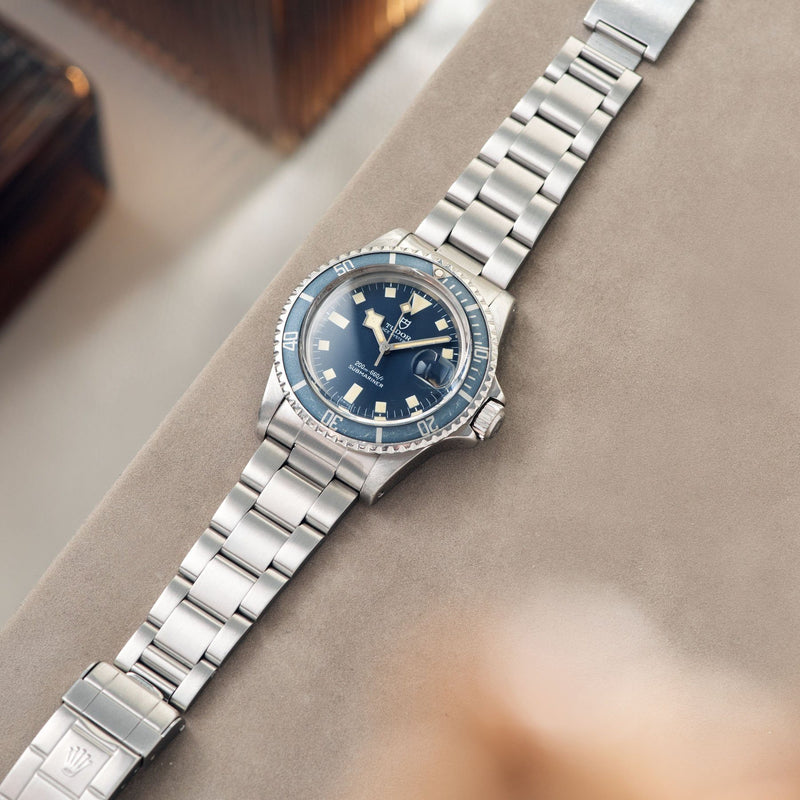 Tudor Submariner Date Blue Snowflake 9411/0 with Rolex 93150 bracelet