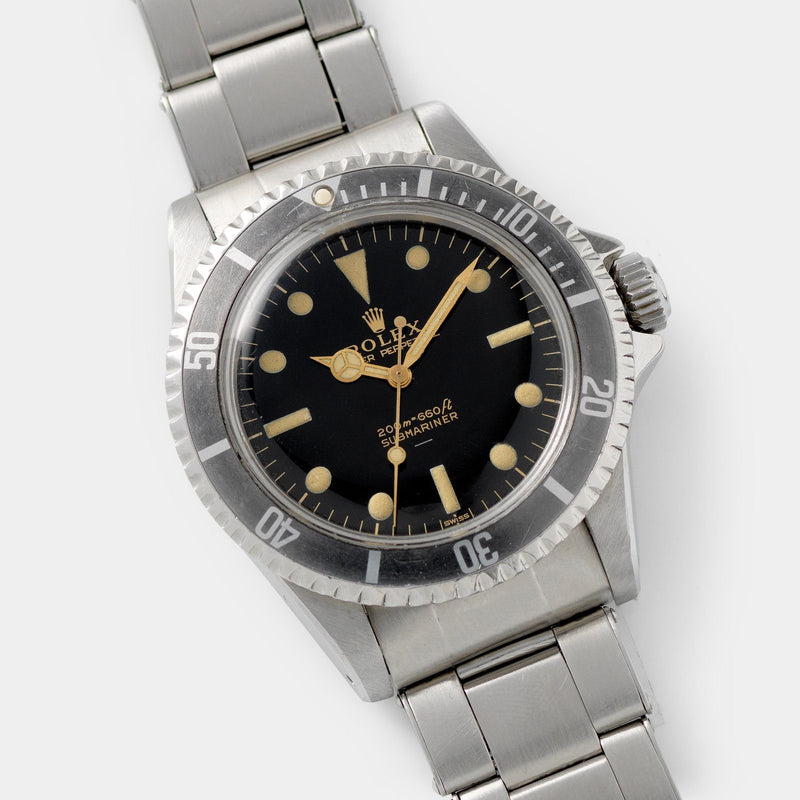 Rolex Submariner 5513 Gilt Underline Dial  40mm steel case