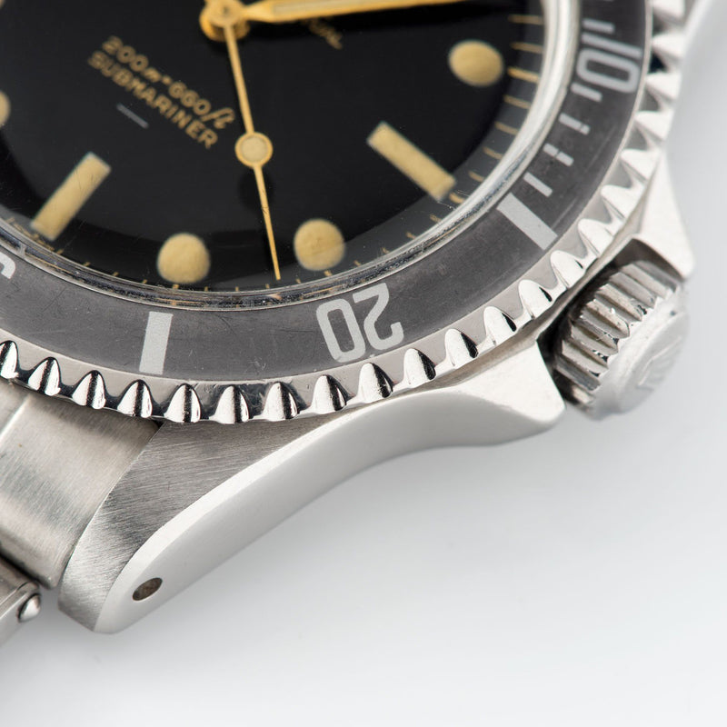 Rolex Submariner 5513 Gilt Underline Dial with Dark grey fat font bezel insert