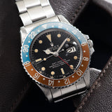 Rolex 1675 Gilt Dial GMT Master Bulang and Sons watch box