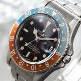 Rolex 1675 Gilt Dial GMT Master pepsi inlay, mirror gloss dial