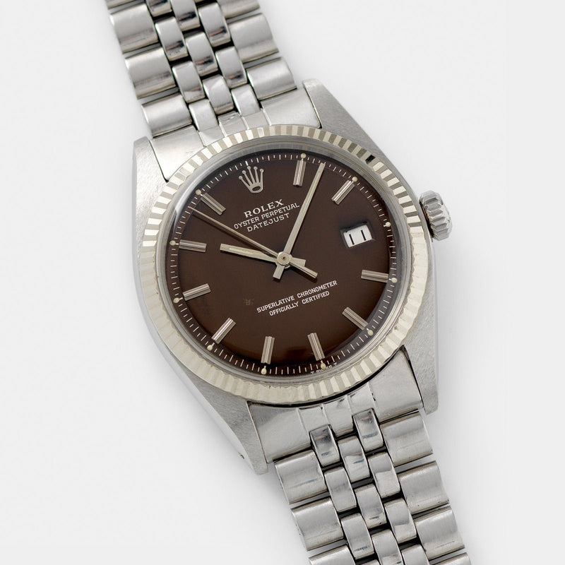 Rolex Datejust Tropical Dial Reference 1601 Box and Papers 36mm steel case