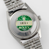 Rolex Datejust Tropical Dial Reference 1601 with caseback sticker