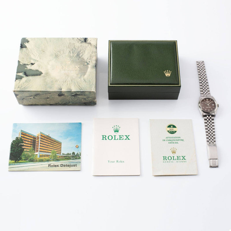 Rolex Datejust Tropical Dial Reference 1601 with Boxes, punched papers and two booklets