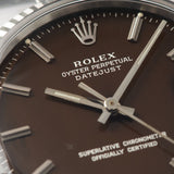 Rolex Datejust Rare vertical brush Tropical Dial Reference 1601 Box and Papers