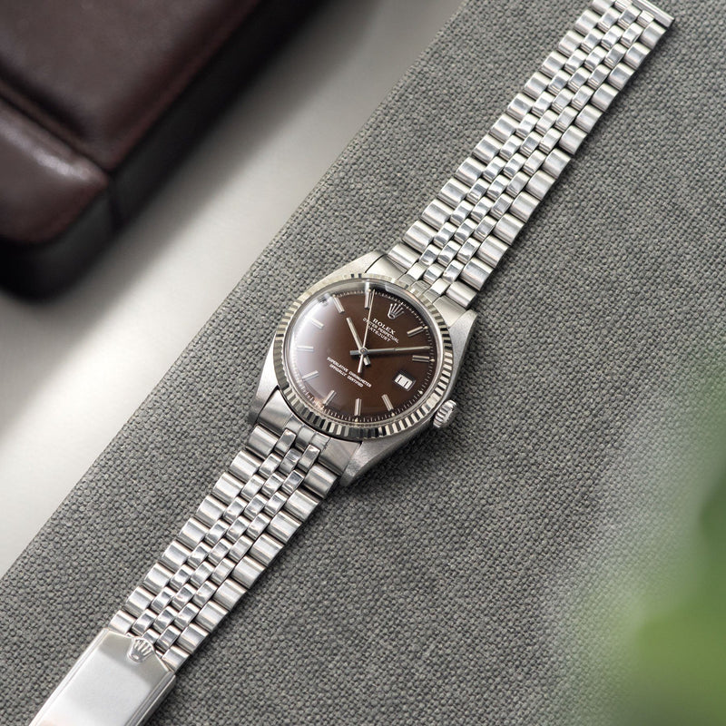 Rolex Datejust Tropical Dial Reference 1601 Box and Papers on a Jubilee bracelet ref 6251