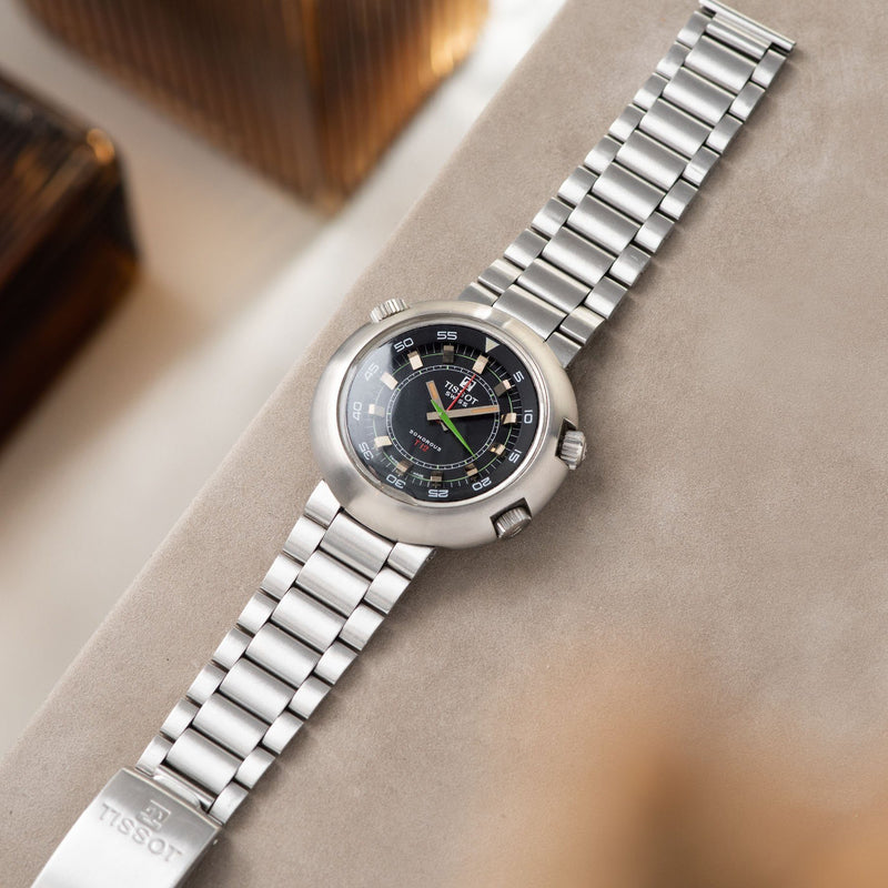 Tissot Sonorous Compressor Alarm Watch T12 4051 on an Original Gay Freres / Tissot steel bracelet