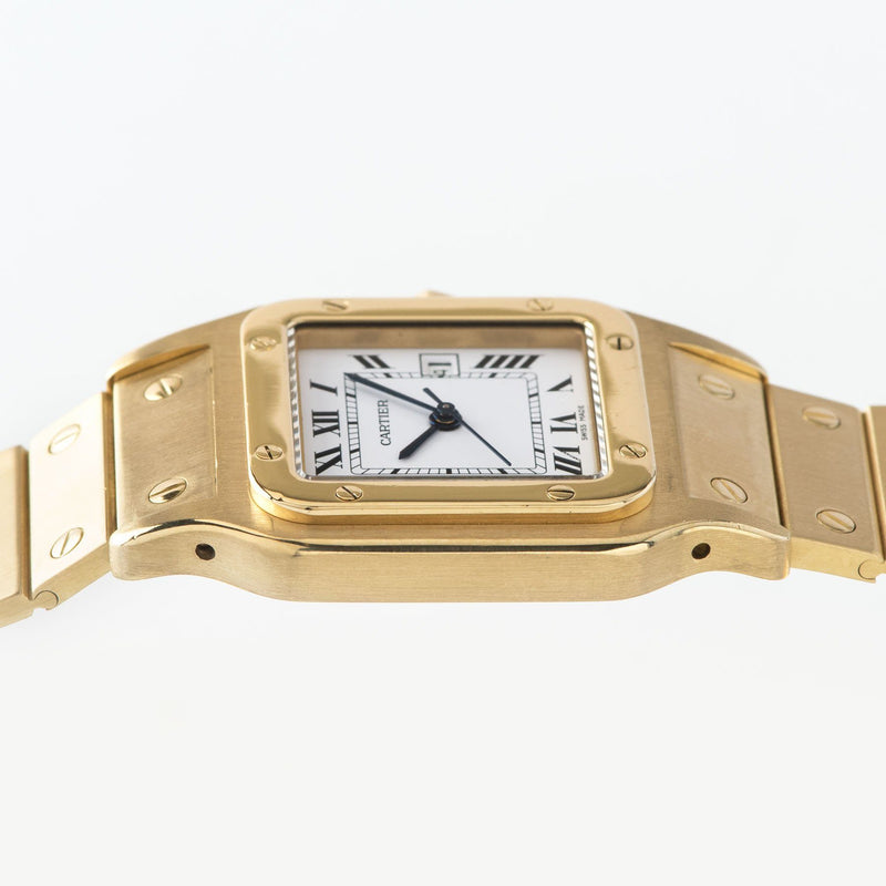 Cartier Santos 18kt Yellow Gold Box and Papers