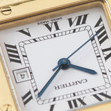 Cartier Santos 18kt Yellow Gold Box and Papers with hidden signature in the VII marker