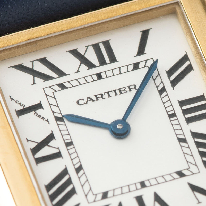 Cartier Tank Solo 18kt Gold Reference 2743 with Blue steeled hands