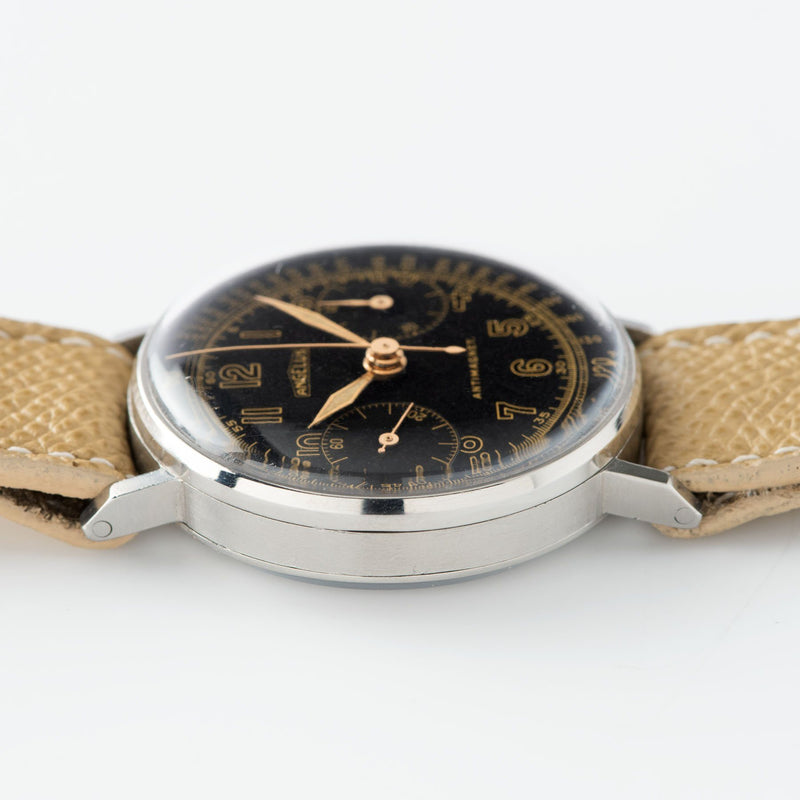 Angelus Steel Chronograph Square Pusher Watch