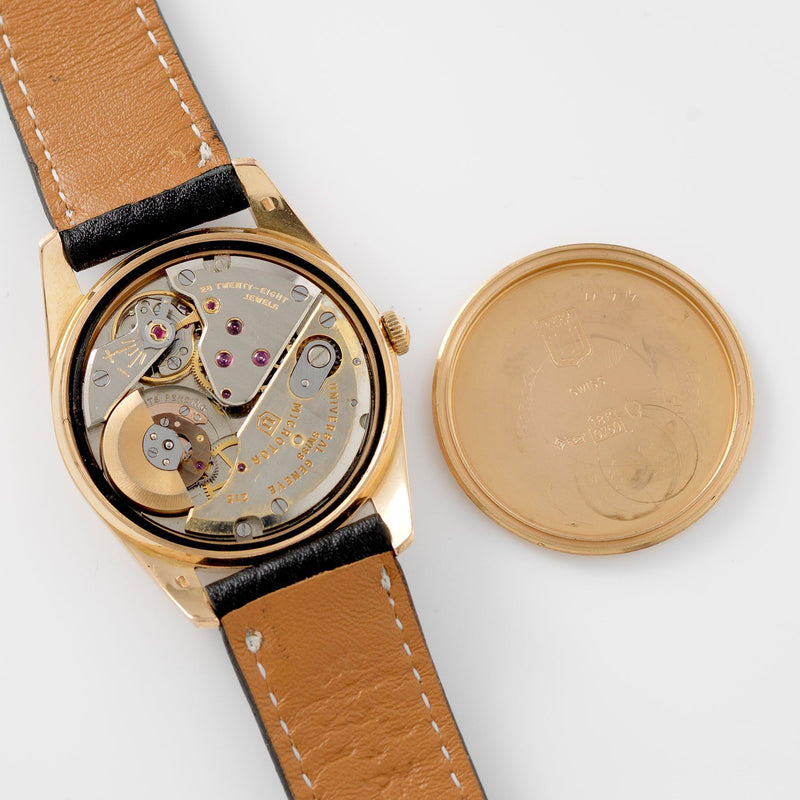 Universal Geneve Polerouter Deluxe Red Gold 103571 Calibre 215 movement with micro rotor