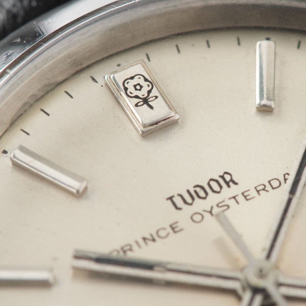 Tudor Prince Oysterdate Silver Dial Reference 7996 with an applied rectangular marker at 12 o'clock