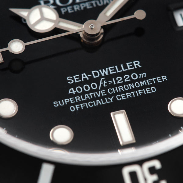 Rolex Seadweller Reference 16600 box and paper set 1995