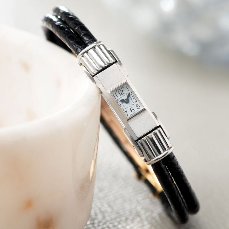 Cartier Duoplan Platinum 1930s Ladies Watch
