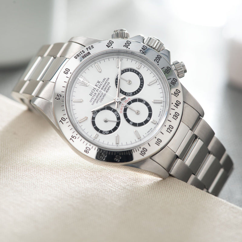 Rolex Daytona Steel 16520 White Dial T-Series on Oyster bracelet