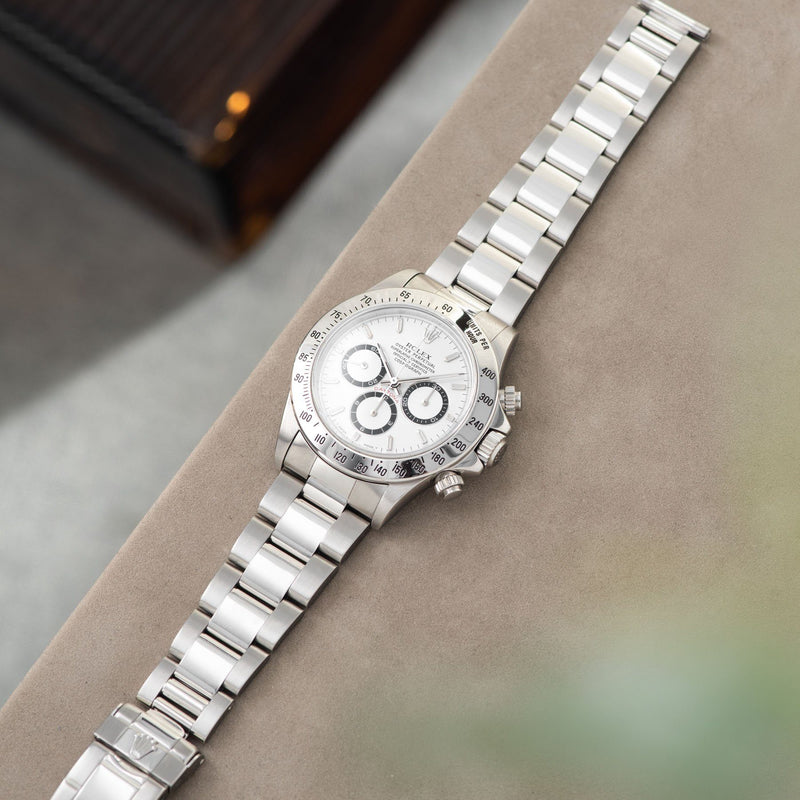 Rolex Daytona Steel 16520 White Dial T-Series with bracelet