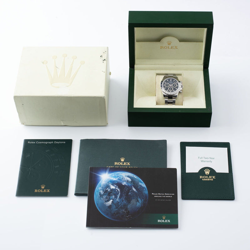 Rolex Daytona Steel 116520 Black Dial Box and Papers set