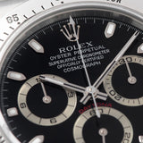 Rolex Daytona Steel 116520 Black Dial Box and Papers set  dial detail