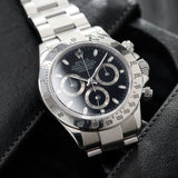 Rolex Daytona Steel 116520 Black Dial Box and Papers set  Chonograph Neo Vintage