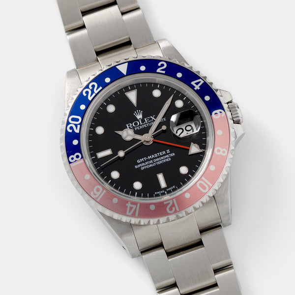 Rolex GMT-Master 2 16710 Pepsi Bezel with Papers