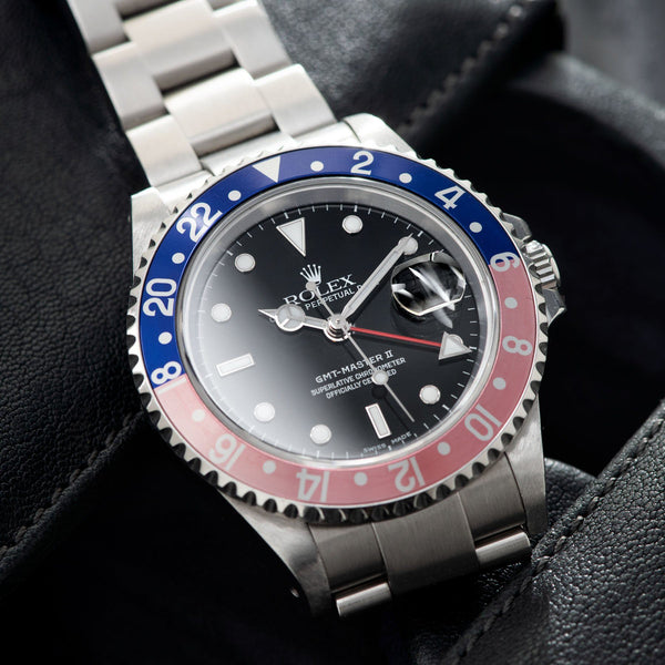 Rolex GMT-Master 2 16710 Pepsi Bezel with Papers dial glory
