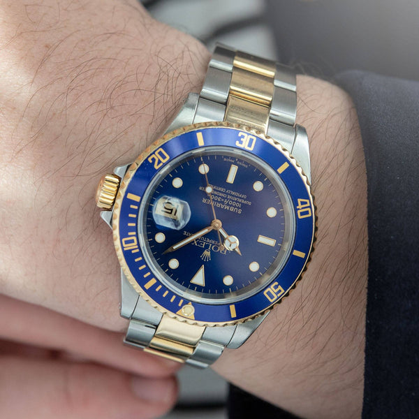 Rolex Submariner Date Blue Dial Two-Tone 16613