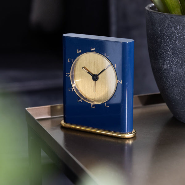 Gübelin Blue Enamel Desk Clock