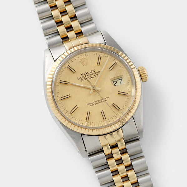 Rolex Datejust Steel and Gold 16013 Linen Dial