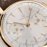 Certina Red Gold Pulsometer Chronograph Watch 1940s