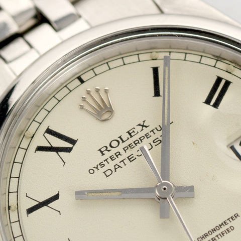 Rolex Datejust Reference 1600 Cream Buckley Dial