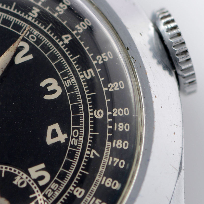 Black Dial Telemeter Chronograph Watch 1940s