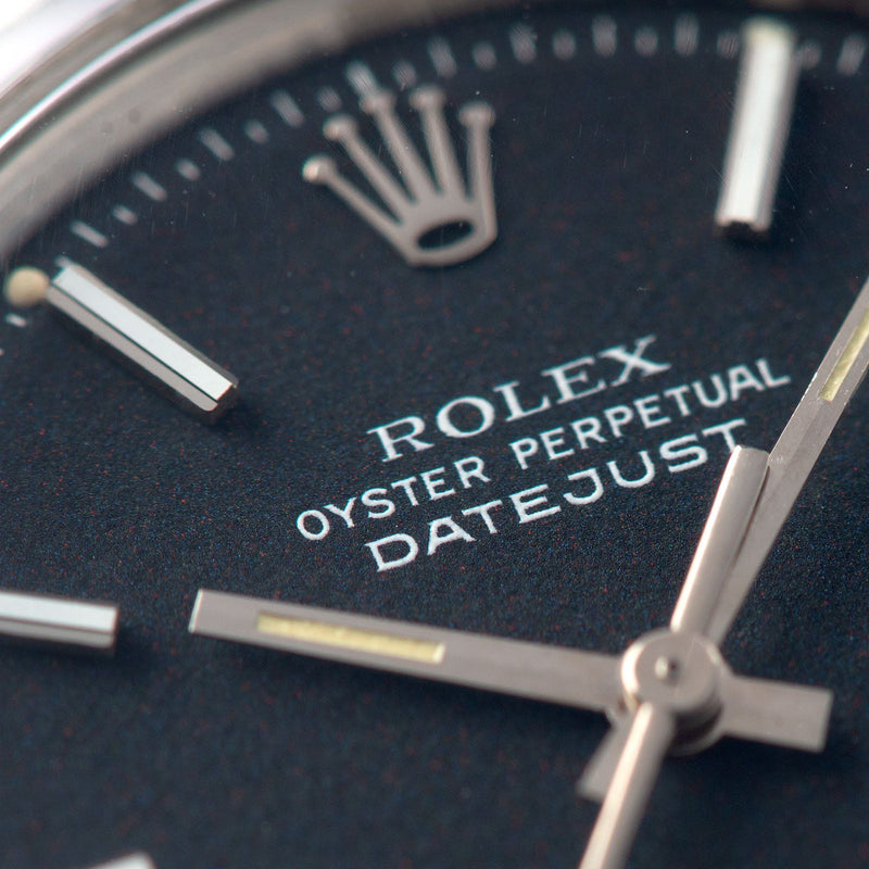 Rolex Datejust Reference Black Marble Dial 1600