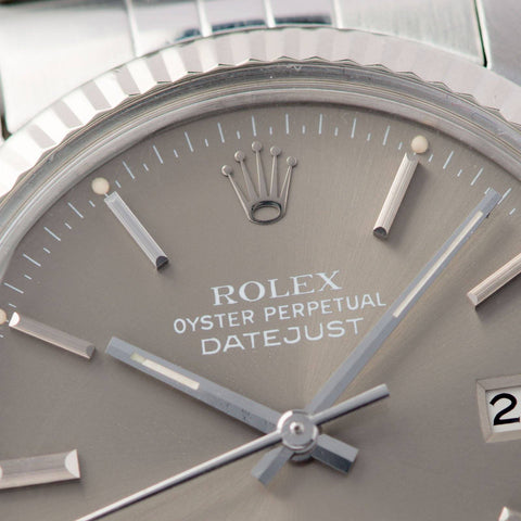 Rolex Datejust Taupe Dial 16014 Box and Papers