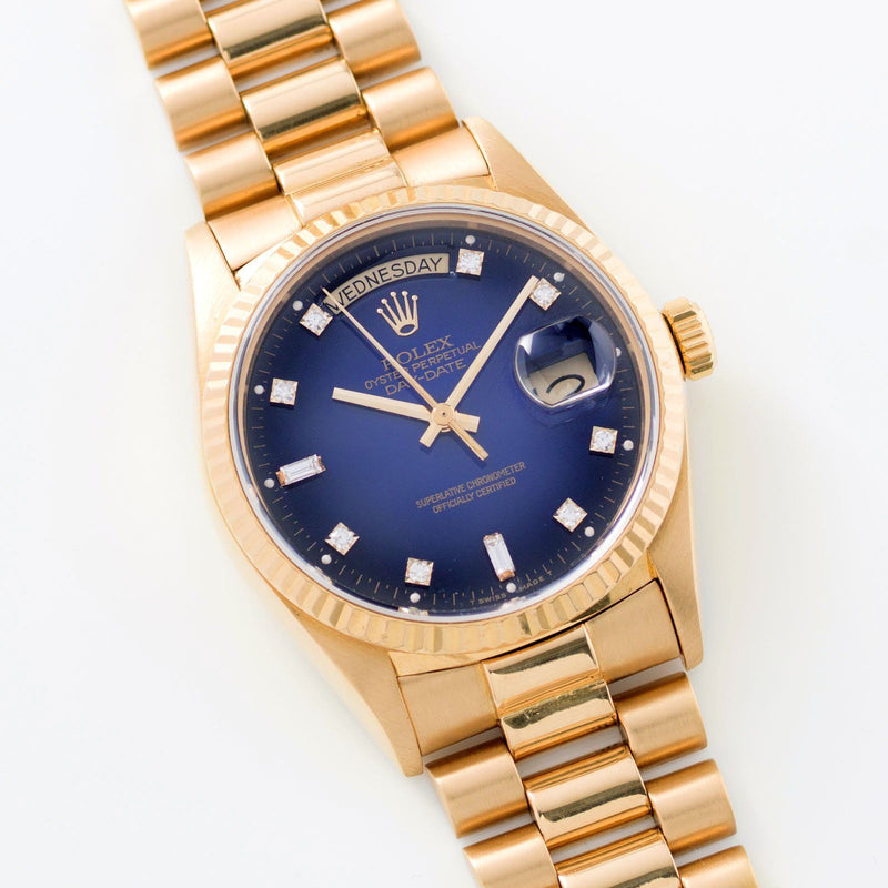 Rolex Day-Date Blue Dégradé Dial 18038