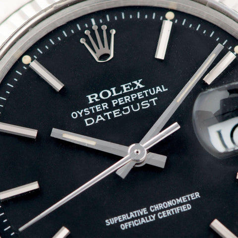 Rolex Datejust Black Dial 1601